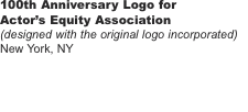 100th Anniversary Logo for  Actor's Equity Association (designe